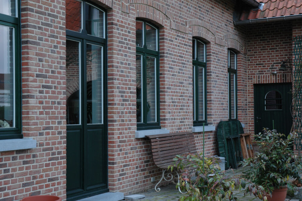 Belgian Blue Stone - Façade - petit granit - door and window sills - frames 2