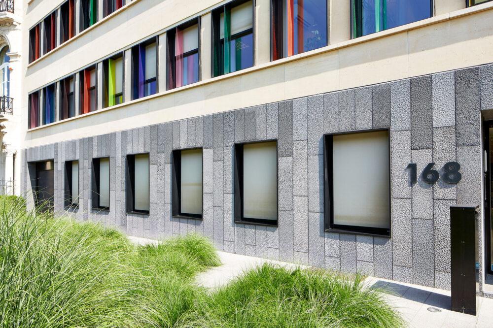 Belgian Blue Stone - Wall tiles Façade - petit granit - Spuntato (2) - Copie