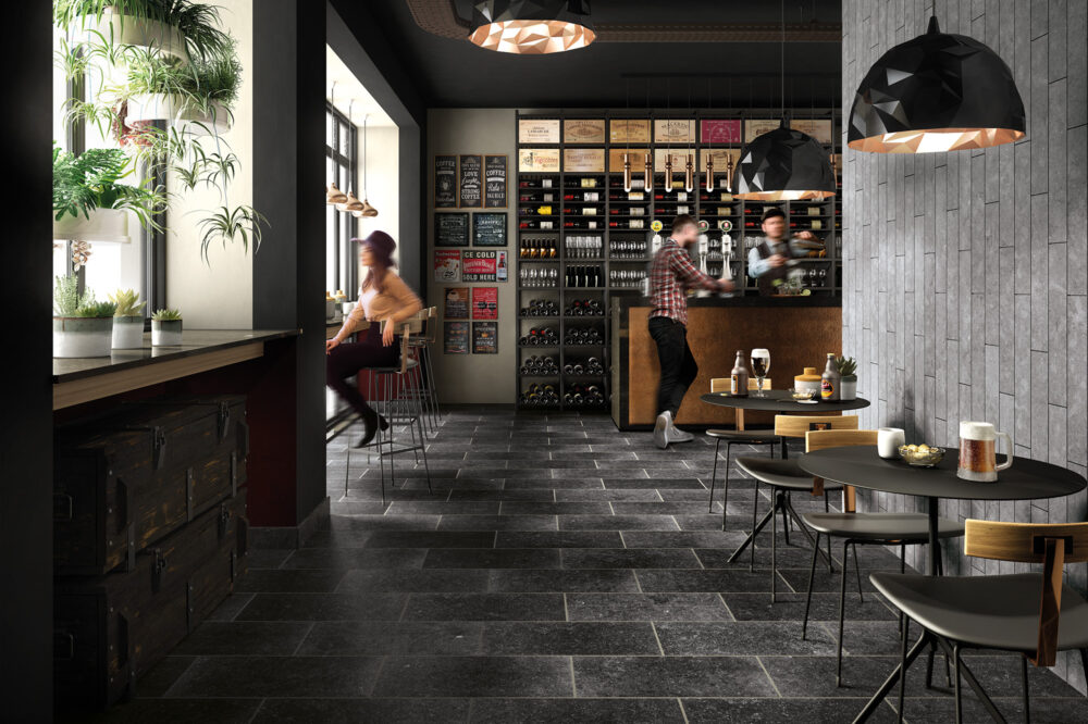 Belgian Blue Stone - petit granit - Floor tiles and wall tiles