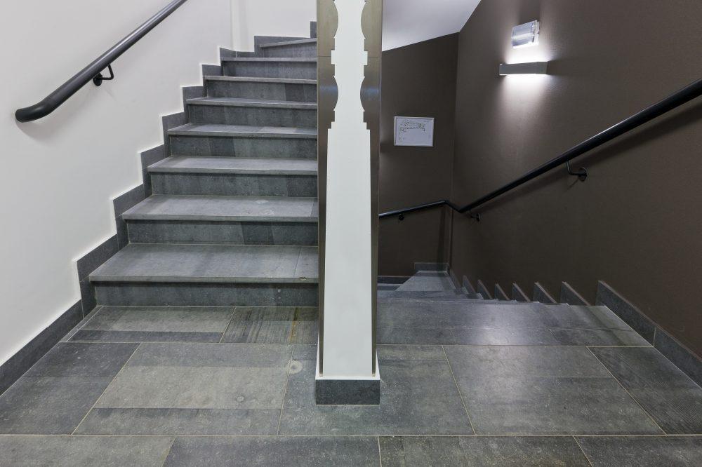 10 Pierre Bleue Belge - Escalier - Brut de Sciage