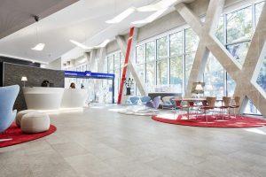 26 Pierre Bleue Belge - sol Sabbiato Gris - (Tour AXA Bruxelles)