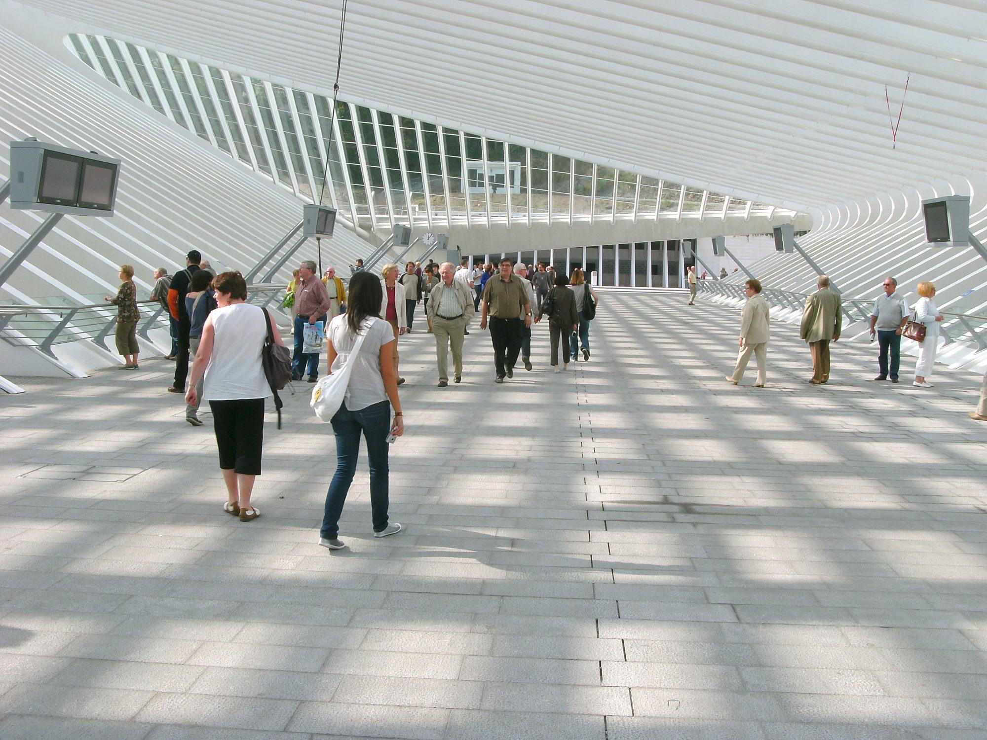 station van Luik-Guillemins - Belgische blauwe hardsteen