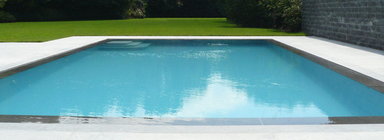 Spiegelzwembad Belgische blauwe hardsteen