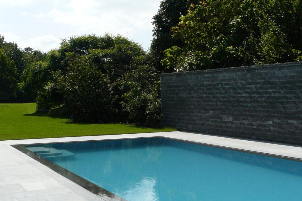 Spiegelzwembad Belgische blauwe hardsteen 2