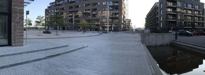 Belgische blauwe hardsteen - Stedenbouw openbare ruimten blauwsteen natuursteen