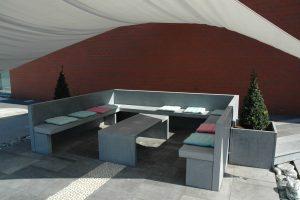 11 - Pierre Bleue Belge - mobilier de jardin - Meulé