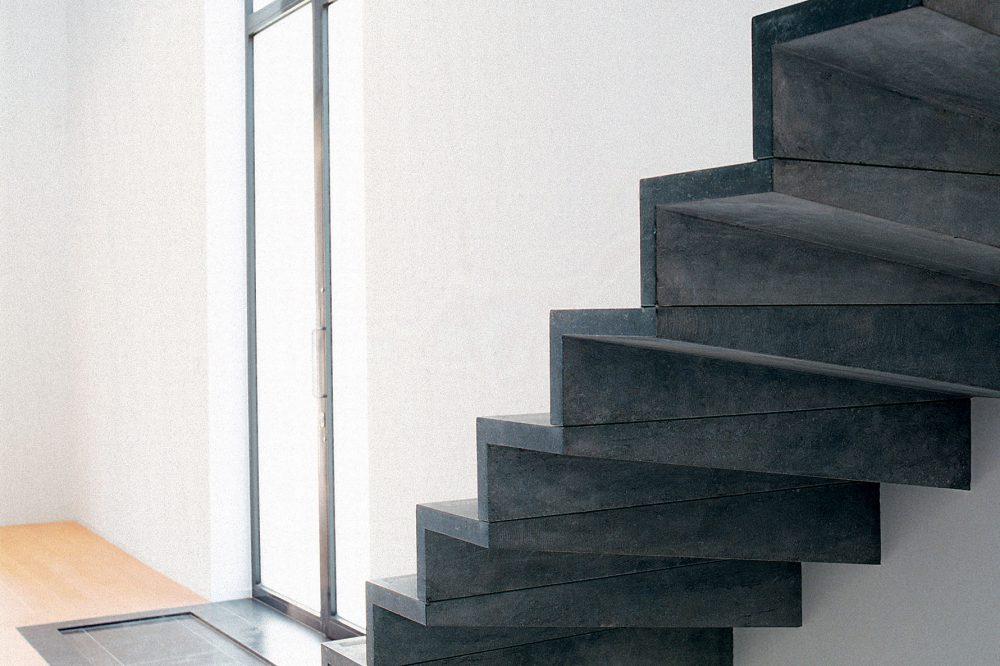 Pierre Bleue Belge - Escalier - Adouci Noir