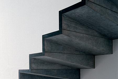 Pierre Bleue Belge - Escalier - Adouci Noir 3
