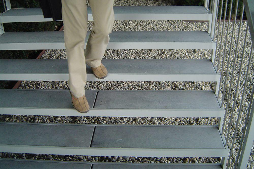 Pierre Bleue Belge - Escalier - Meulé