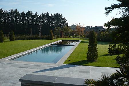 piscine margelle - Pierre Bleue Belge