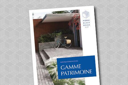 Pierre Bleue Belge - Brochure Gamme Patrimoine - Pavé vieilli