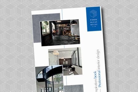 Pierre Bleue Belge - Brochure inspiration - Projects intérieurs professionnels